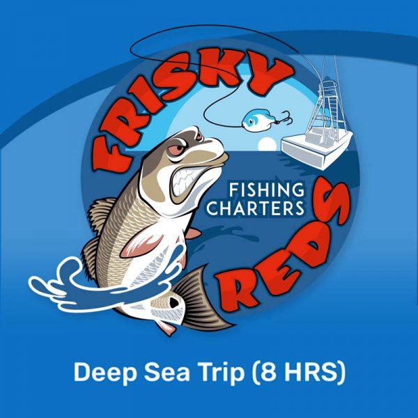 8 hour fishing trip deep sea Galveston